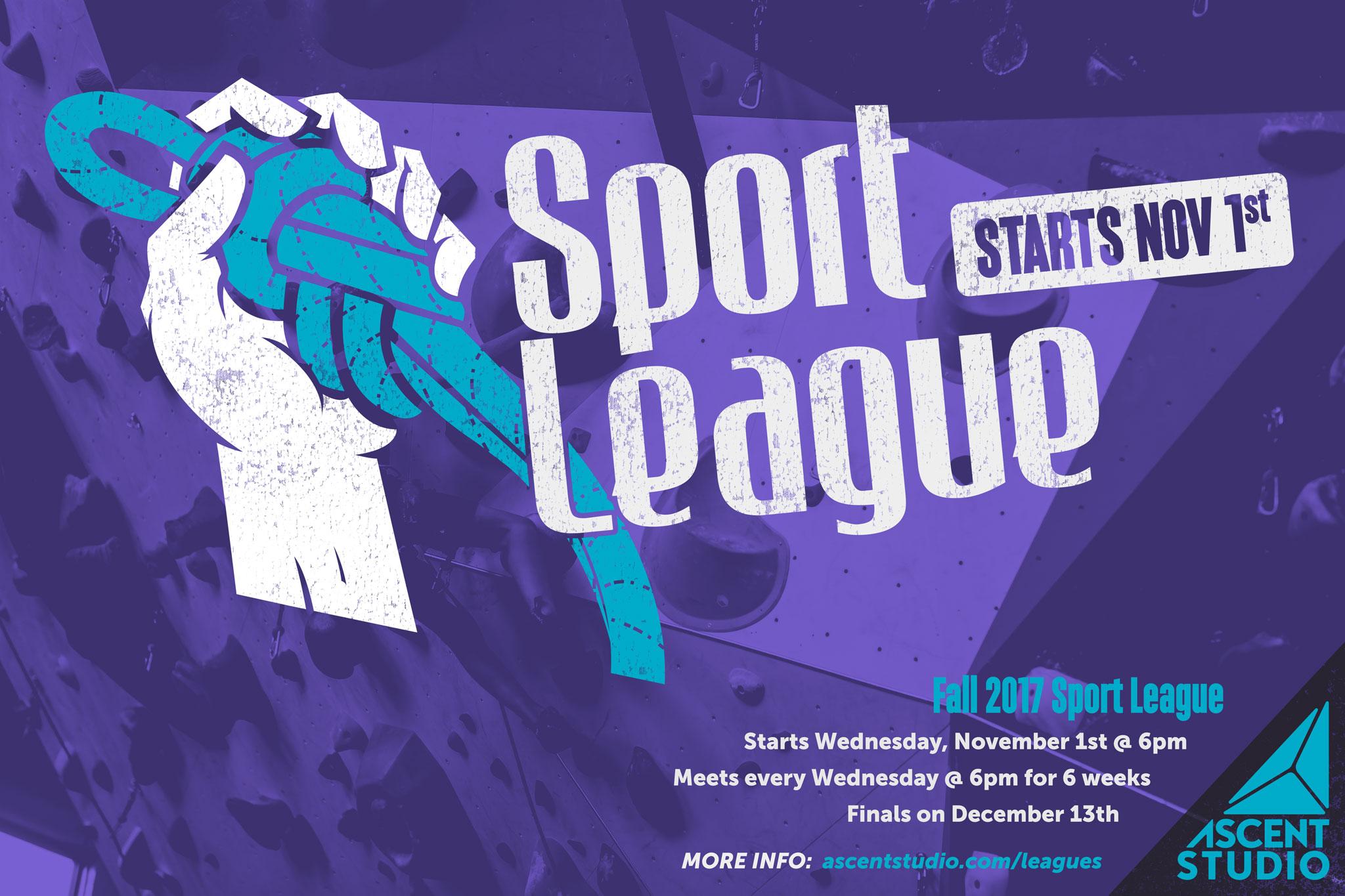 Sport League 2017 Poster