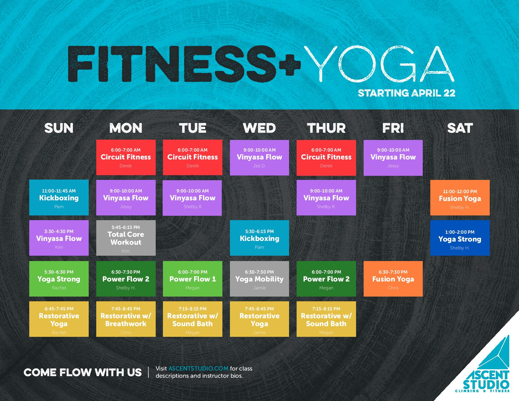 Fitness Schedule Updates -image